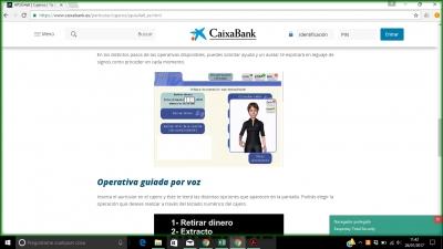 La Caixa incorpora la LSE en forma de avatar a sus cajeros