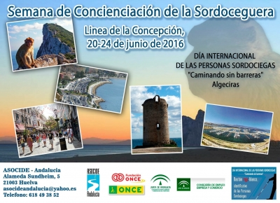 """DIA INTERNACIONAL DE LAS PERSONAS SORDOCIEGAS EN ANDALUCIA """"CAMINANDO SIN BARRERAS""""."""