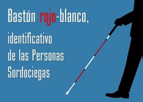 BASTÓN ROJO-BLANCO DE MOVILIDAD PARA LAS PERSONAS SORDOCIEGAS